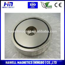 Неодимовый горшок магнитный NI Покрытие с потайным отверстием ROHS