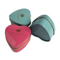 Сердечная форма Подарочная олово может шоколадно-оловянная банка