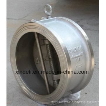 Válvula de retenção de disco de inclinação da bolacha