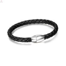 2017 cheap thin magnetic buckle PU leather bracelet