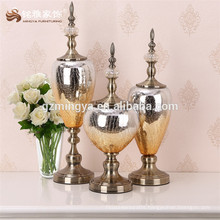 Arts and crafts design home decor MY0002 Gold color resin decor glass crafts
