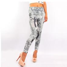 Europe American Print Woman Clothes Pants Leggings