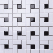 300X300 Anti-Skidding Black and White Mosaic Tile Bathroom