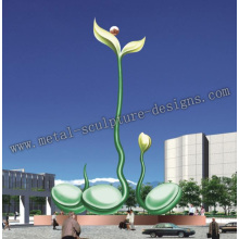 grote abstracte metalen sculptuur voor outdoor decoration