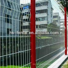 Clôture de treillis métallique enduite de PVC de couleur verte