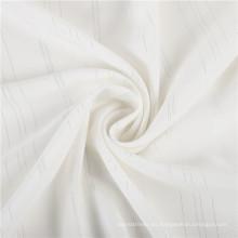 Stocklot tejido de jacquard 100% algodón tejido con crepe