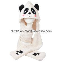 Panda Hats Foulards Gants trois pièces intégralement pour les dames