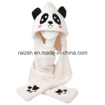 Panda Hüte Schals Handschuhe dreiteilige Integral für Damen
