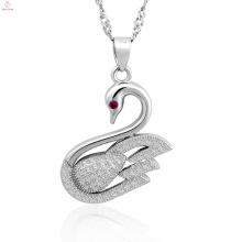 Großhandelsfeinen Schmuck 925 Silber Schmuck Anhänger Swan Halskette