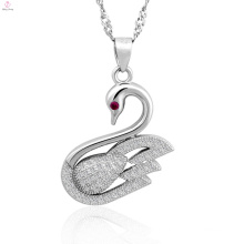 Wholesale Fine Jewelry 925 Silver Jewelry Pendant Swan Necklace