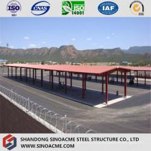 Pre Проектированные стальные навес для автобусной станции