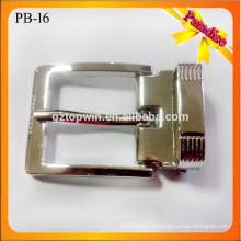 PB16 Boucles d'épaulement Pin métalliques pour ceinture métal Boucle réversible Boucle à épingle à 3 cm