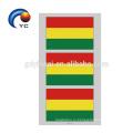 Yincai Национальные Флаги В Форме Сердца Временные Лицо Татуировки Наклейки Высокое Качество