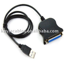 USB zum Drucker DB25 25Pin Paralleldruckerkabel Anschluss Anschlusskabel Adapter IEEE 1284