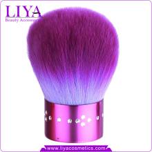 Pretty Purple Diamond Kabuki Brush for Travel Makeup