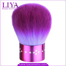 Довольно Фиолетовый Алмазный Кабуки кисти для макияжа путешествия
