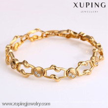 72906- Xuping Jewelry Fashion Hot Sale Pulsera Mujer con oro 18K plateado