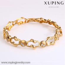 72906- Xuping Bijoux Fashion Hot Sale Femme Bracelet avec plaqué or 18 carats