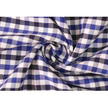 Royal/Navy contrôles sergé Polyester tissu de coton 40 60 pour chemises