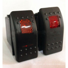 Interruptor de eje de balancín marino automotriz del interruptor de 12V / 24V Arb LED