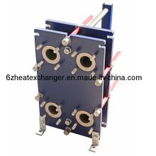 Hocheffiziente Wärmeübertragung AISI316 Platte NBR Dichtung Plattentyp Solarwärmetauscher