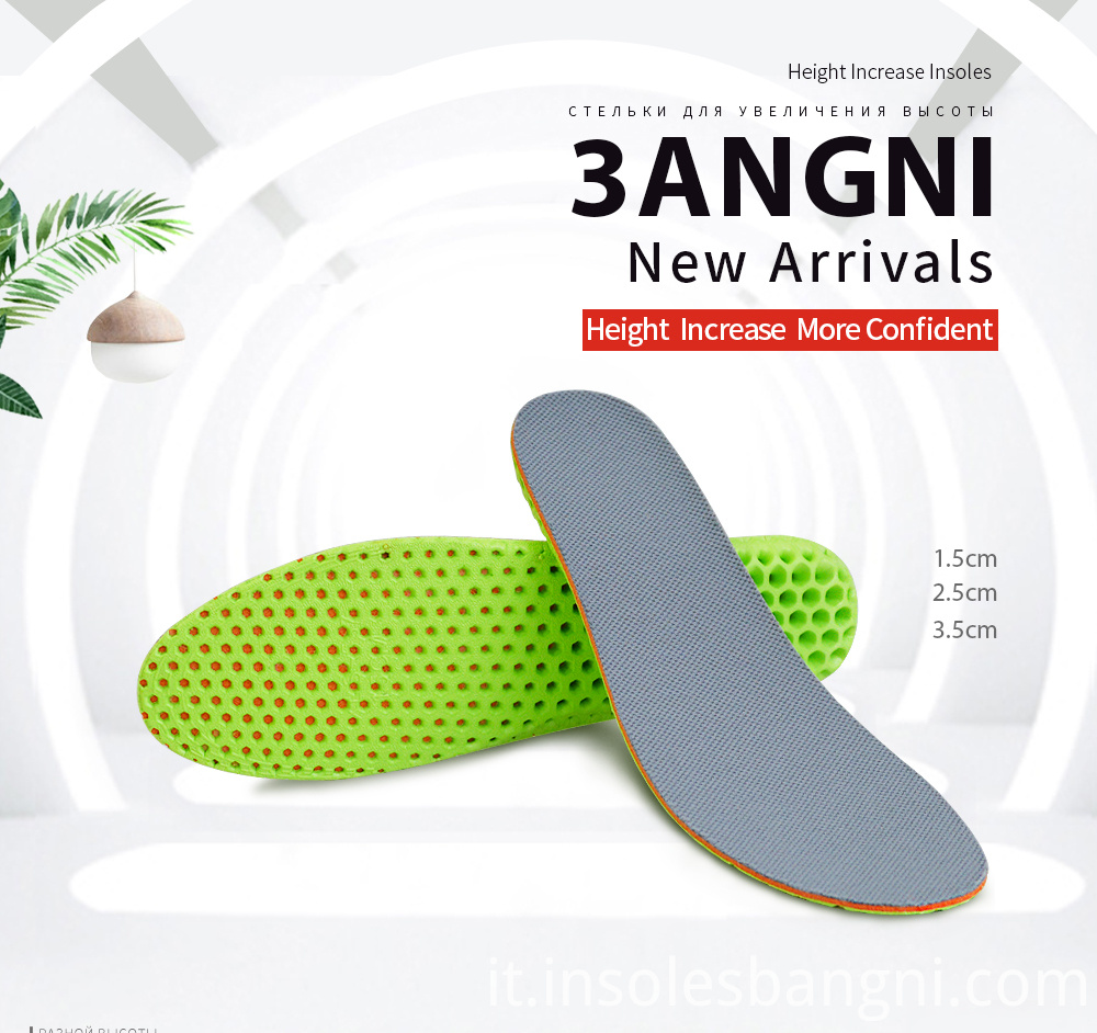 Height increase insole