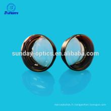 Optique verre triplet lentilles-quartz
