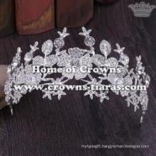 Unique Crystal Flower Shaped Wedding Tiaras