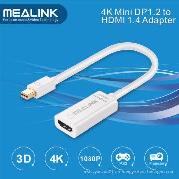 Cable adaptador 4k Mini Dp 1.2 a HDMI 1.4
