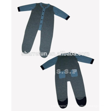 luxurious spring winter wear 12gg flat knitted cashmere babay jumpsuits