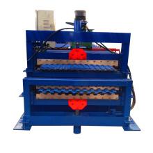 folha de telhadura ondulada da dupla camada que faz a máquina