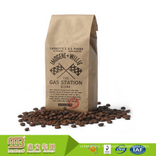 Factory Wholesale FDA Food Grade Customized Print Kraft Paper Colombian Coffee Bags with Valve