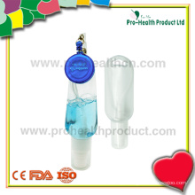 Frasco de sanitizante de mão vazio com carretel de suporte retrátil (pH009-067B)