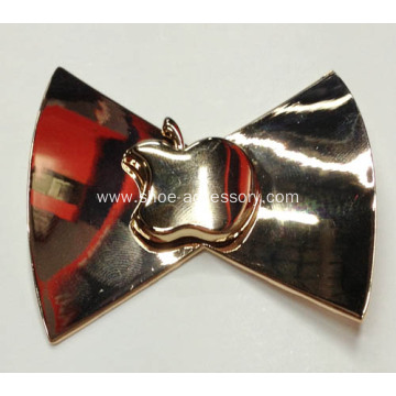 Gold Bowknot Metal Buckles with Apple Decor Centered