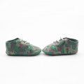 Percetakan Army Green Soft Sole Baby Oxford Shoes