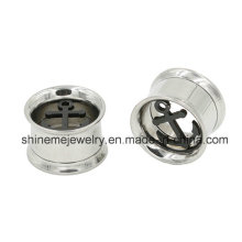 Hollow out Stainless Steel Tunnel Ear Plug