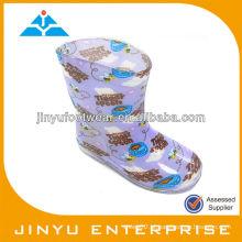 Pvc botas de chuva transparente para crianças