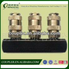 European Type 3-Way 1/4 Brass Quick Coupler for Air Conditioner