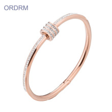 18 k Rose Gold Small Bangle-armbanden met stenen