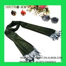 DK Bufandas de seda verde para señoras