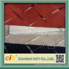 Tecido de veludo jacquard Knittied para tecido de sofá