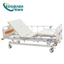 Lit d'hôpital de soins infirmiers manuel électrique 3 fonctions