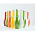 Suco colorido garrafa de plástico com tampa de parafuso pet bebida garrafa de água potável para embalagem de alimentos