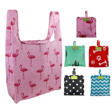lightweight eco-friendly resusable tote bag fold waterproof big nylon shopping grocery tote bags
