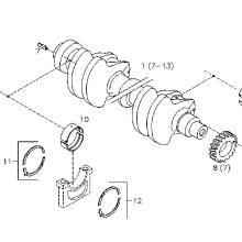Deutz Diesel Engine Spare Parts F6L913 Crankshaft 0293 1056