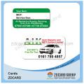 Carte intelligente d'IC de cadeau imprimée par PVC sans contact en plastique