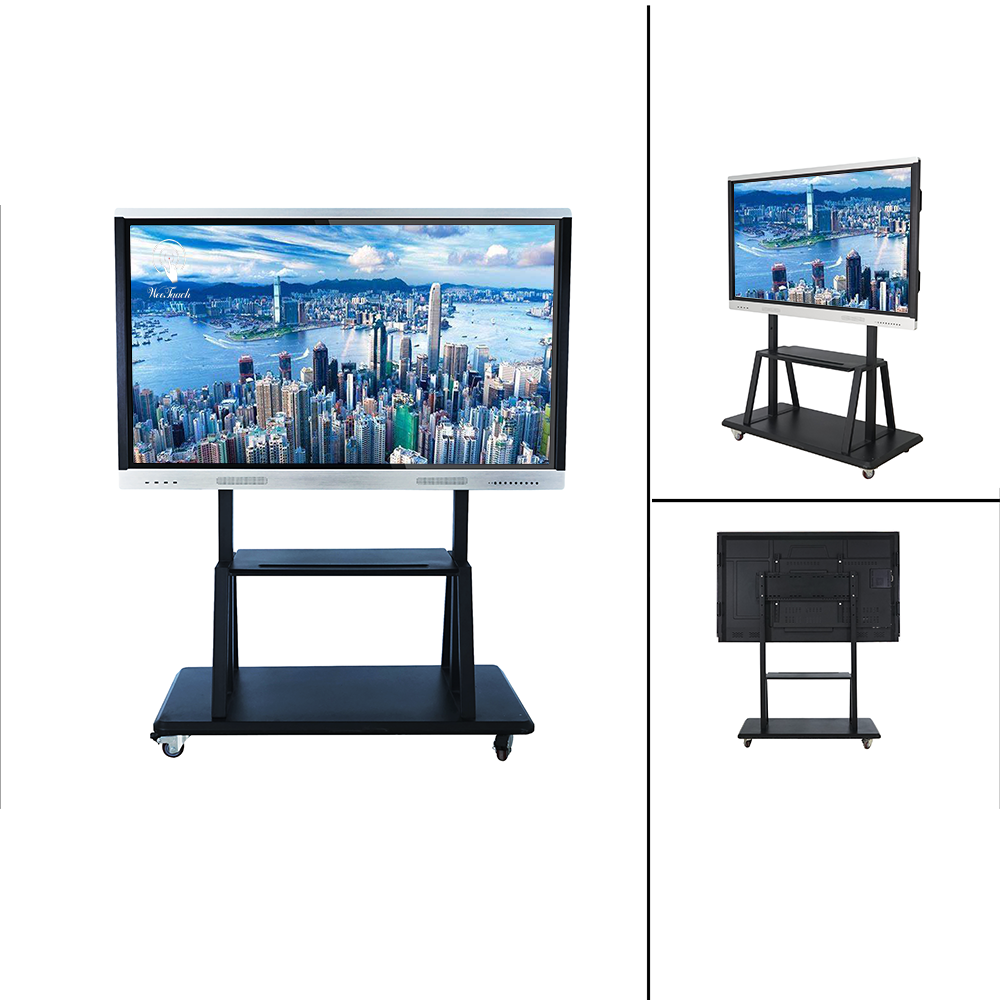 70 inches AI touch panel with mobile stand