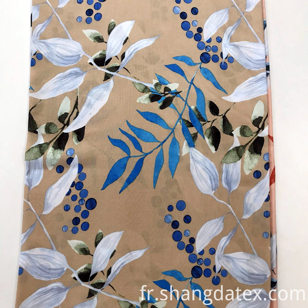 leaf design printing fabric