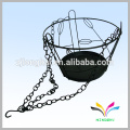 Outside Garden Wire Metal Wrought Iron Hanging Flower Pot Rack for saving room