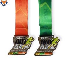 Silver metal zinc alloy award medal